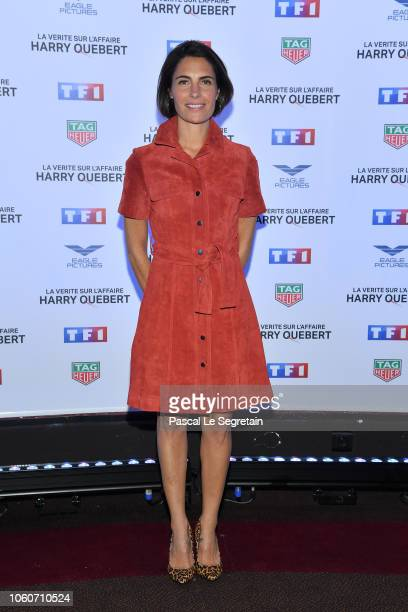 Alessandra Sublet attends The Truth About The Harry Quebert Affair Premiere at Cinema Gaumont Marignan on November 12 2018 in Paris France