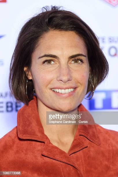 Alessandra Sublet attends 'The Truth About The Harry Quebert Affair' Premiere at Cinema Gaumont Marignan on November 12 2018 in Paris France
