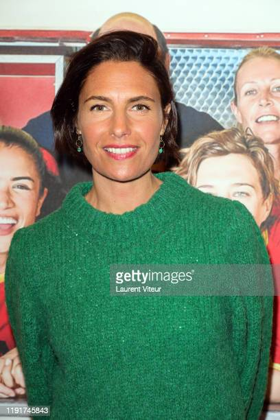 Alessandra Sublet attends the Une Belle Equipe premiere at Cinema Elysees Biarritz on December 03 2019 in Paris France