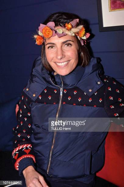 Alessandra Sublet is photographed for Paris Match at the evening gala Chatka the slave hut of the Roch Hotel decorated by Sarah Poniatowski on...