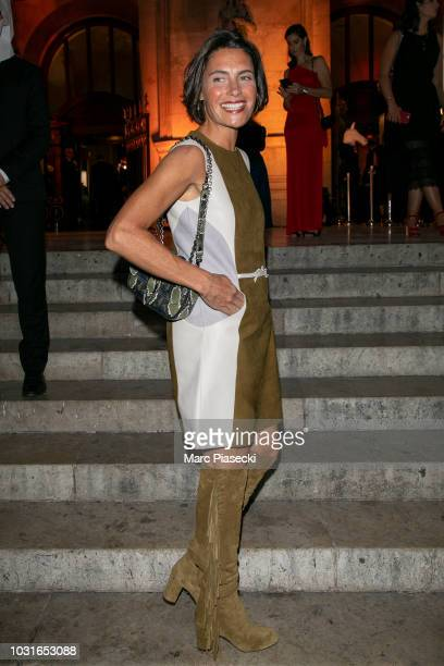 Alessandra Sublet is seen arriving at the Longchamp 70th Anniversary Celebration at Opera Garnier on September 11 2018 in Paris France