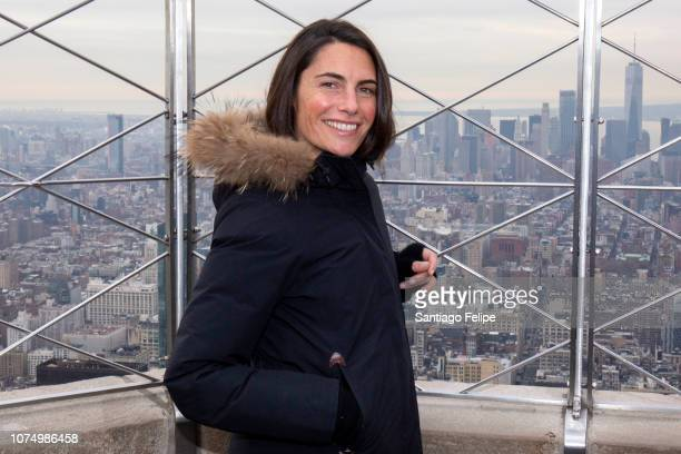 Alessandra Sublet visits The Empire State Building on November 30 2018 in New York City