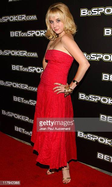 Alessandra Toreson during 2005 BosPokercom Celebrity Poker Tournament Arrivals at Private Residence in Beverly Hills California United States