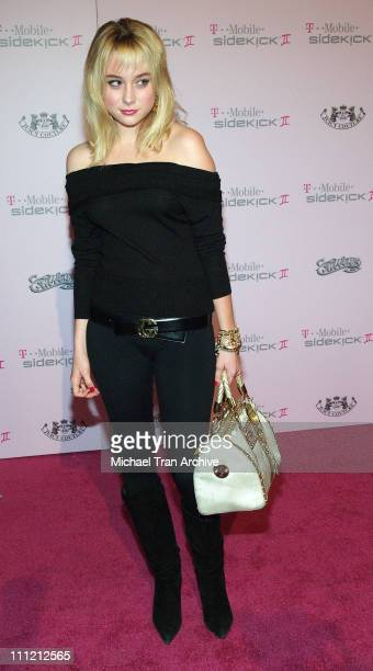 Alessandra Toreson during T-Mobile Limited Edition Sidekick II Launch - Arrivals at T-Mobile Sidekick II City in Los Angeles, California, United...