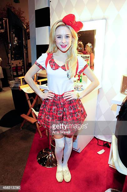 Alessandra Torresani attends Sephora's First Ever Hello Kitty Beauty Shop at Hello Kitty Con on November 2 2014 in Los Angeles California