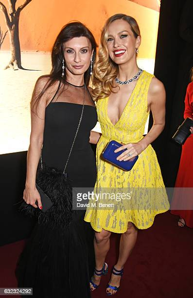Alessandra Vicedomini and Petra Nemcova attend as Chopard presents The Garden Of Kalahari collection at Theatre du Chatalet on January 21, 2017 in...