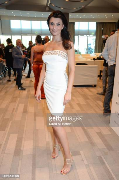 Alessandra Vicedomini attends Amber Lounge U*NITE 2018 in aid of Sir Jackie Stewart's foundation 'Race Against Dementia' on May 25, 2018 in Monaco,...