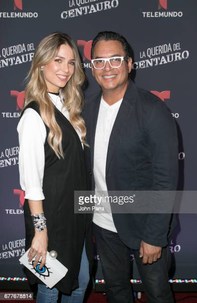Alessandra Villegas and Daniel Sarcos attend the Telemundo Screening Of 'La Querida Del Centauro' on May 2 2017 in Coral Gables Florida