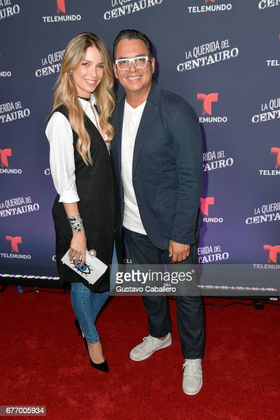 Alessandra Villegas and Daniel Sarcos attends the Telemundo screening of 'La Querida Del Centauro' on May 2 2017 in Coral Gables Florida
