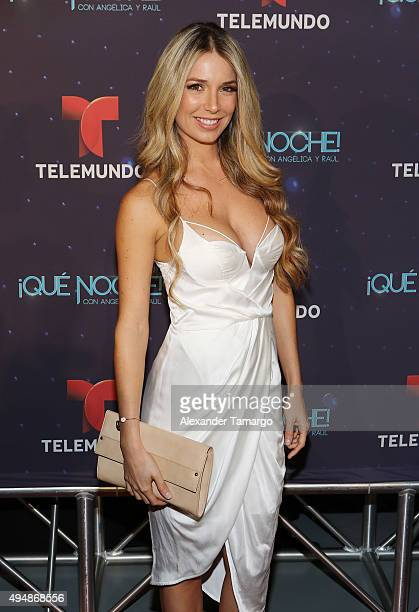 Alessandra Villegas arrives at the special screening of 'Que Noche With Angelica And Raul' at Imagina Studios on October 29 2015 in Miami Florida