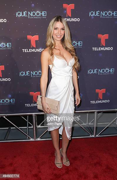 Alessandra Villegas attends Telemundo 'Que Noche With Angelica And Raul' on October 29 2015 in Miami Florida