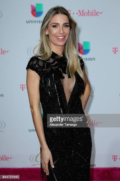 Alessandra Villegas from Dale Replay attends Univision's 29th Edition of Premio Lo Nuestro A La Musica Latina at the American Airlines Arena on...