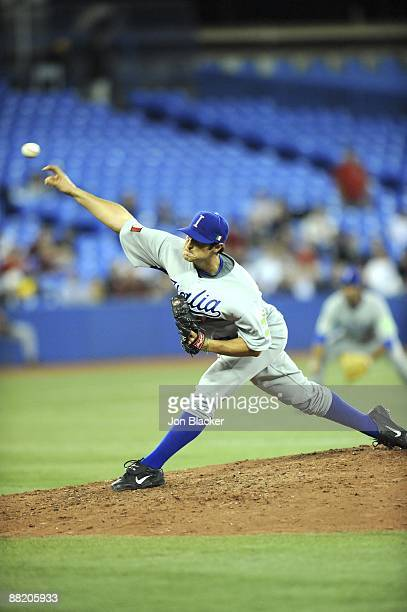 Alessandro Alex Maestri of Team Italy pitches during the Pool C game one between Venezuela and Italy during the first round of the 2009 World...