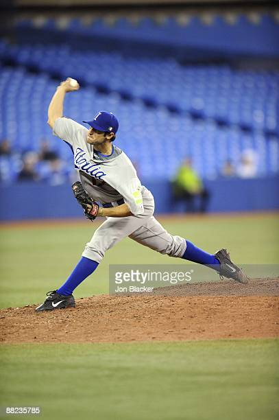 Alessandro Alex Maestri of Team Italy pitches during the Pool C game five between Venezuela and Italy during the first round of the 2009 World...