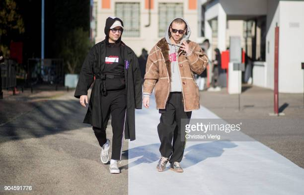 Alessandro Altomare is seen at White Milano during Milan Men's Fashion Week Fall/Winter 2018/19 on January 13 2018 in Milan Italy