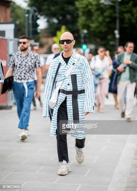 Alessandro Altomare is seen during the 94th Pitti Immagine Uomo on June 13 2018 in Florence Italy