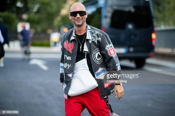 Alessandro Altomare wearing Supreme jacket is seen during the 94th Pitti Immagine Uomo on June 14 2018 in Florence Italy