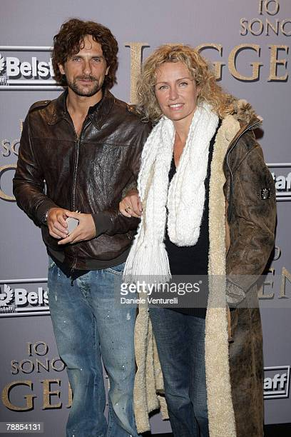 Alessandro Antonino and Licia Colo attend the premiere of I Am Legend at Warner Village Cinemas Moderno on January 9 2008 in Rome Italy