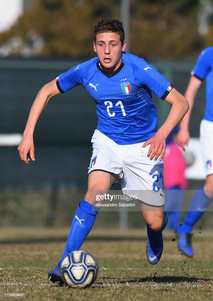 Alessandro Arlotti of Italy U17 in action during the International... News  Photo - Getty Images