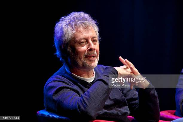 Alessandro Baricco a famous Italian writer speaks during the 'Libri come 2016' The seventh edition of 'Libri come 2016' the great Festival of the...