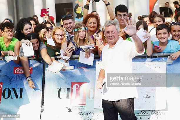 Alessandro Baricco attends the Giffoni Film Festival 2015 blue carpet on July 22 2015 in Giffoni Valle Piana Italy