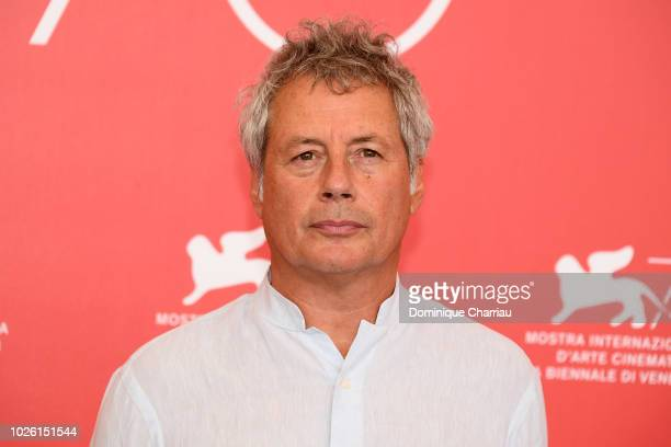 Alessandro Baricco attends Venice Virtual Reality Jury photocall during the 75th Venice Film Festival at on September 2 2018 in Venice Italy
