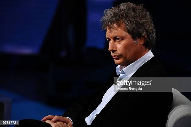Alessandro Baricco during the Italian tv show 'Che tempo che fa' in Milan Italy