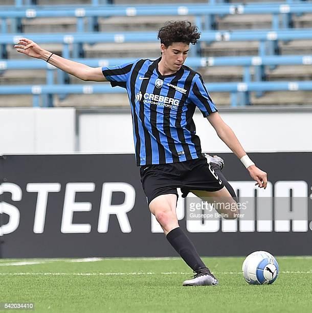 Alessandro Bastoni of Atalanta Bergamasca Calcio in action during Serie A U17 Finals between FC Internazionale Milano and Atalanta Bergamasca Calcio...