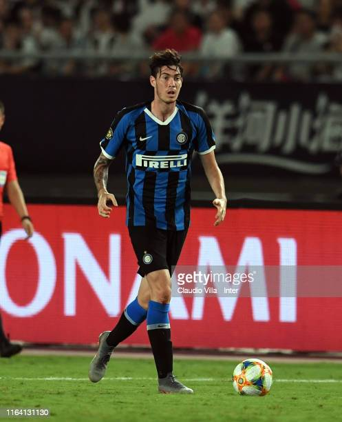 Alessandro Bastoni of FC Internazionale during the International Champions Cup match between Juventus and FC Internazionale at the Nanjing Olympic...