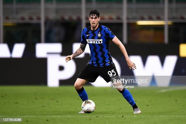 Alessandro Bastoni of FC Internazionale in action during the Serie A football match between FC Internazionale and SSC Napoli. FC Internazionale won...