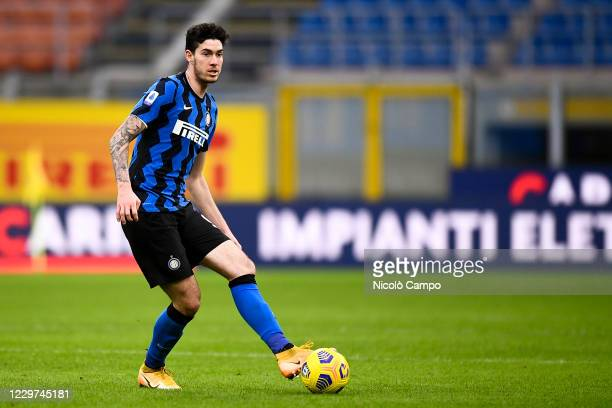 Alessandro Bastoni of FC Internazionale in action during the Serie A football match between FC Internazionale and Torino FC. FC Internazionale won...