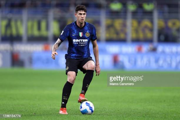 Alessandro Bastoni of Fc Internazionale in action during the Serie A match between Fc Internazionale and Juventus Fc. The match ends in a tie 1-1.