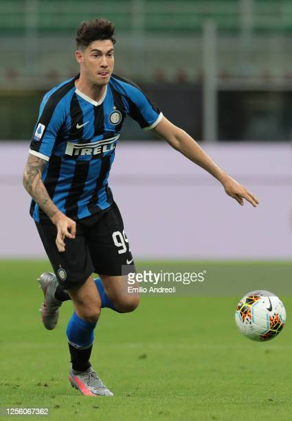 Alessandro Bastoni of FC Internazionale in action during the Serie A match between FC Internazionale and Torino FC at Stadio Giuseppe Meazza on July...