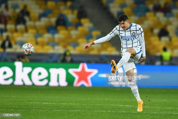 Alessandro Bastoni of FC Internazionale in action during the UEFA Champions League Group B stage match between Shakhtar Donetsk and FC Internazionale...