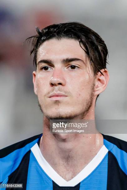 Alessandro Bastoni of FC Internazionale reacts prior to the International Super Cup 2019 between Paris SaintGermain and FC Internazionale at the...