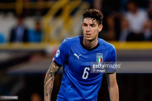 Alessandro Bastoni of Italy looks on during the 2019 UEFA U21 Group A match between Italy and Poland at Renato Dall'Ara Stadium on June 19 2019 in...