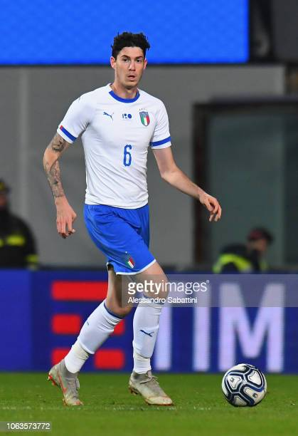 Alessandro Bastoni of Italy U21 in action during the International friendly match between Italy U21 and Germany U21 on November 19 2018 in Reggio...