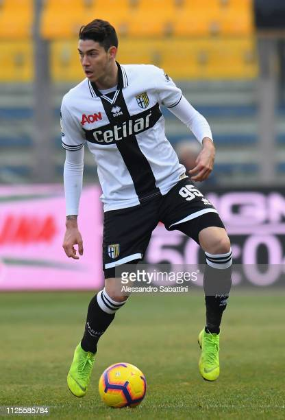 Alessandro Bastoni of Parma Calcio in action during the Serie A match between Parma Calcio and SPAL at Stadio Ennio Tardini on January 27 2019 in...