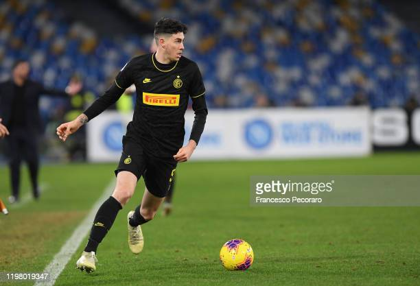 Alessandro Bastoni player of FC Internazionale during the Serie A match between SSC Napoli and FC Internazionale at Stadio San Paolo on January 06...