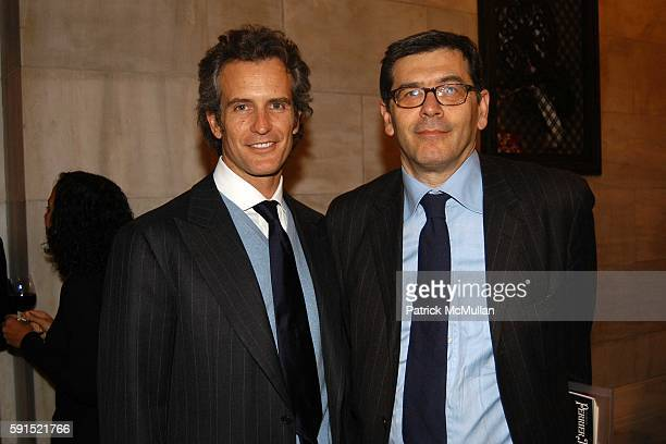 Alessandro Benetton and Carlo Tunioli attend Architecture for Benetton a conversation between Tadao Ando and Alessandro Benetton at New York Public...