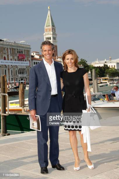 Alessandro Benetton and Debora Compagnoni attend the opening of the New Contemporary Art Centre on June 4 2009 in Venice Italy