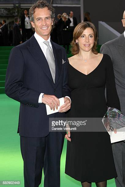 Alessandro Benetton and Debora Compagnoni during United Colors of Benetton 40th Anniversary Fashion Show at Centre Pompidou in Paris France