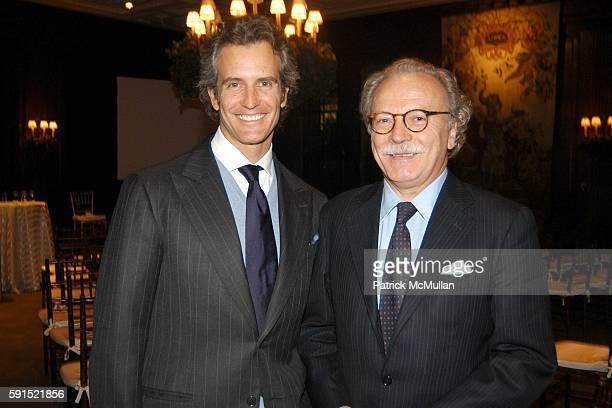 Alessandro Benetton and Giampaolo Pioli attend Architecture for Benetton a conversation between Tadao Ando and Alessandro Benetton at New York Public...