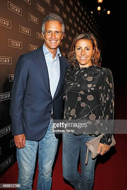 Alessandro Benetton and his wife Deborah Compagnoni attend Intimissimi on Ice OperaPop at the Arena di Verona on September 20 2014 in Verona Italy...