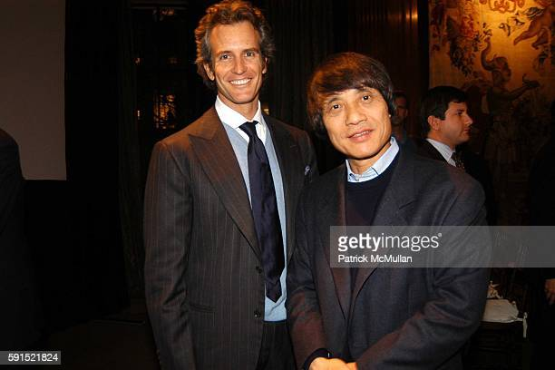 Alessandro Benetton and Tadao Ando attend Architecture for Benetton a conversation between Tadao Ando and Alessandro Benetton at New York Public...