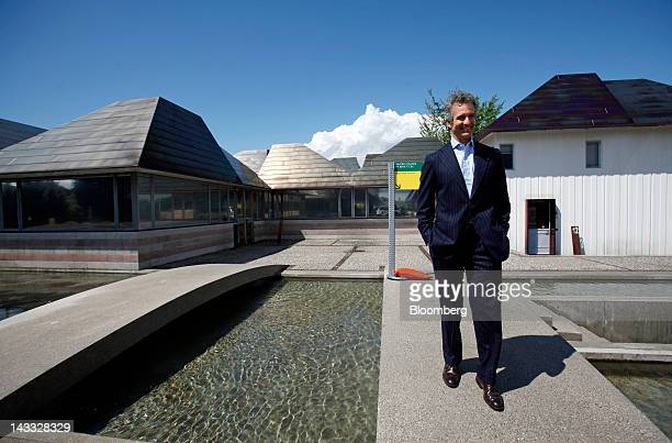 Alessandro Benetton chairman of Benetton Group SpA poses for a photograph following the annual shareholders meeting at the company's headquarters in...