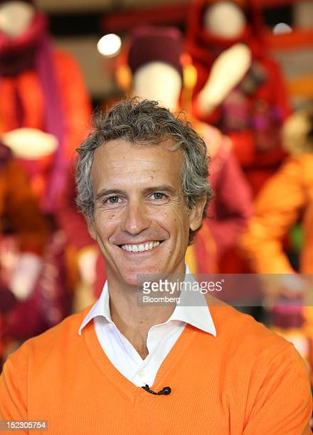 Alessandro Benetton chairman of Benetton Group SpA poses for a photograph following the launch of the company's Unemployee of the Year advertising...