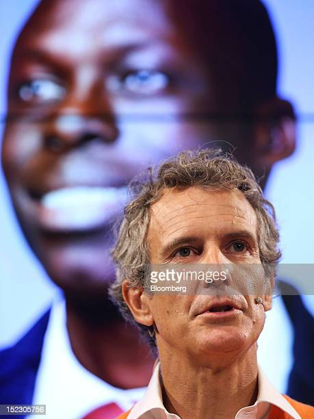 Alessandro Benetton chairman of Benetton Group SpA speaks during a news conference to launch the company's Unemployee of the Year advertising...