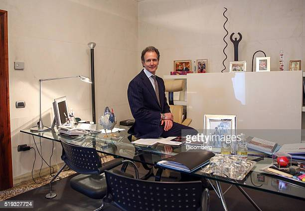 Alessandro Benetton chief executive officer of 21 Investimenti SpA poses for a photograph in his office following an interview at his offices in...