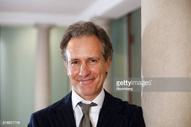 Alessandro Benetton chief executive officer of 21 Investimenti SpA poses for a photograph following an interview at his offices in Treviso Italy on...